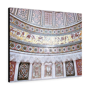 Printed in USA - Canvas Gallery Wraps - Islamic art patterns in a historic mosque - Syria -  Islam
