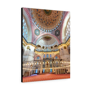 Printed in USA - Canvas Gallery Wraps -  Interior of the Blue Mosque - Turkey - Islam
