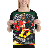 Poster - Lord Ganesha - Remover of Obstacles - prior to the day of Ganesh Chaturthi - Hinduism - India