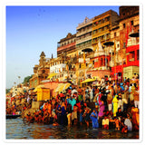Bubble-free stickers - The holy city of Varanasi - India - Hiduism