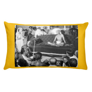 Premium Pillow - Sri Ramana Maharashi - Luminous Satsang in silence - Hinduism