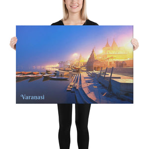 Canvas - The Sacred City of Varanasi - A major religious hub in India - Hinduism and Buddhism