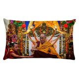 Premium Pillow - The Tibetan Buddhism Dalai Lama with attendants - Buddhism