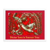 Framed poster  -  The Divine Love of Raddha-Krishna - Hinduism