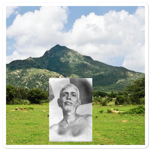 Bubble-free stickers - The Holy Mountain of Arunachala were Sri Ramana lived - Hinduism
