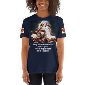 Gildan 6400 - Short-Sleeve Unisex T-Shirt - May Shree Ganesha bless you with happiness and success - Hinduism