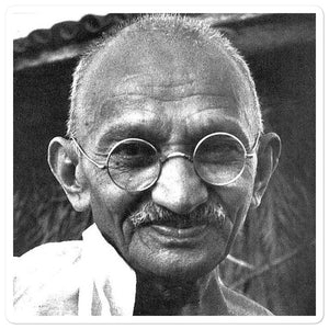 Bubble-free stickers - Mahatma Ghandi - the power of Non-Violence and Truth - Hinduism