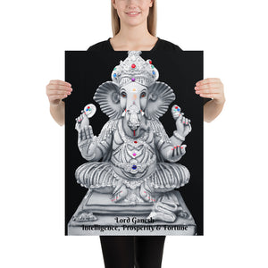 Poster - Lord Ganesh - Intelligence, Prosperity & Fortune - Hinduism