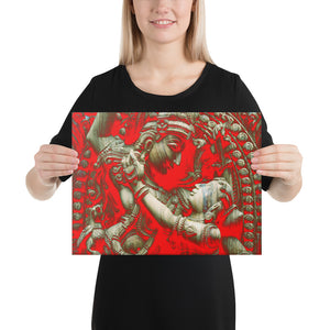 Canvas - The Divine Love of Raddha-Krishna - Hinduism