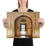 Canvas - Canvas - Taj Mahal (interior) - Moslem Mosque and tourist attraction - Islam - Agra - India