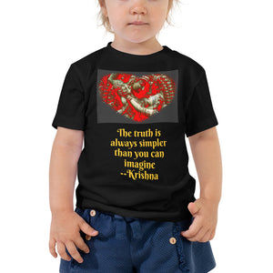Toddler Short Sleeve Tee - Bella + Canvas 3001T - Raddha-Krishna Love message