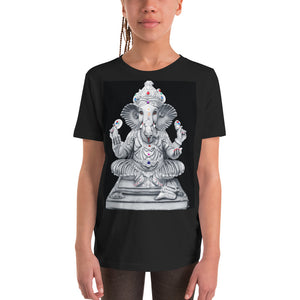 Youth Short Sleeve T-Shirt - Bella + Canvas 3001Y - With Ganesha for blessings - Hinduism