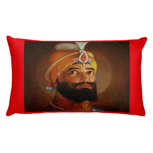 Premium Pillow - Guru Nanak and Guru Gobind Singh - Founders of the Sikh religion