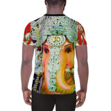 Ganesha - All-Over Print Men's Athletic T-shirt - Awesome impression! - Hinduism