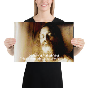 Poster - Maharishi Mahesh Yogi - Yoga and Transcendental Mediation - Hinduism - India
