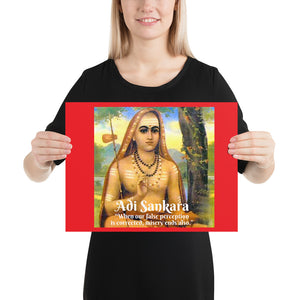 Poster - Adi Shankaracharya  - Advaita  Vedanta - Yoga - Hinduism - India