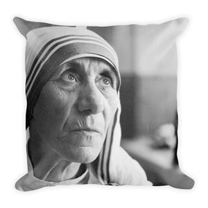 Premium Pillow - Mother Teresa of Calcutta - Love in Action - Christianity