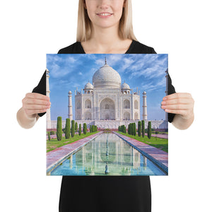 Canvas  - The Taj Majal  - The Jewel of Muslim  art in India - Islam and Hinduism
