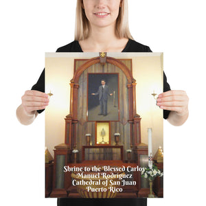 Poster- Shrine to the Blessed Carlos Manuel  - Cathedral of San Juan - Puerto Rico - Catholicism