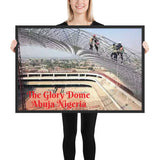 Framed poster The Glory Dome (in construction) - Abuja - Nigeria - Christianity