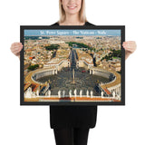 Framed poster - St. Peter's Square - The Vatican, Rome, Italy - Catholicism