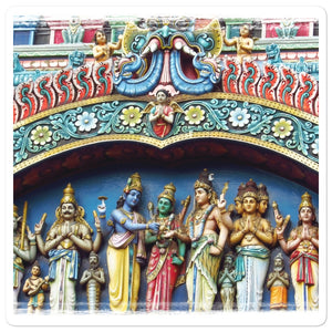 Bubble-free stickers - Gods in Hindu temple - Hinduism