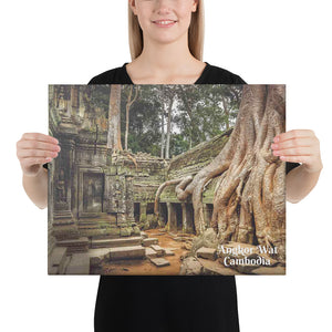Canvas - Angkor Wat - One of the largest religious monuments - Hinduism and Buddhism