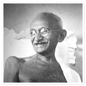 Bubble-free stickers - Mahatma Gandhi - India - Hinduism