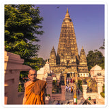 Bubble-free stickers - Bodh Gaya - the holy place of the Buddhas Enlightenment - India - Hinduism - Buddhism
