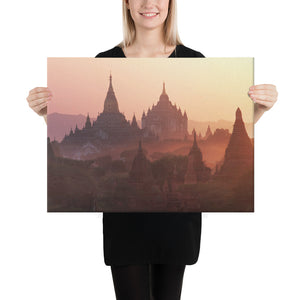 Canvas - Mystical and Ancient Buddhist Pagodas of Bagan in Myanmar - Buddhism
