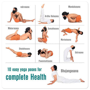 Bubble-free stickers - Baba Ramdev Basic Yoga - Hinduism