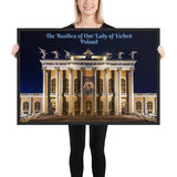 Framed poster - The Basilica of Our Lady of Licheń - Poland - Europe - Catholicism