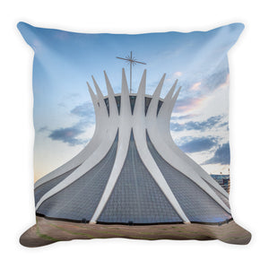 Premium Pillow - Cathedral of Brasília - Brasil - South America - Catholicism