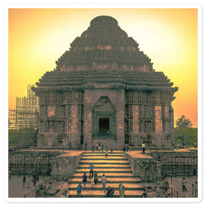 Bubble-free stickers - Konark sun-god temple - India - Hinduism