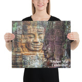 Canvas - Angkor Wat - The Smiling Buddha - Hinduism and Buddhism