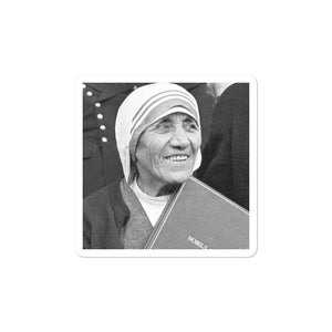 Bubble-free stickers - Mother Teresa of Calcutta receives Nobel Peace Prize - Christianity