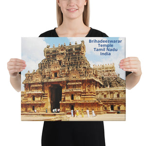 Canvas - Brihadishvara Temple - Shiva - Tamil Nadu - India - Hinduism