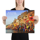 Canvas - The Sacred City of Varanasi - A major religious hub in India - Hinduism and Buddhism and Ravidassa