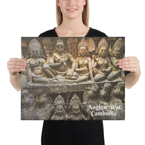 Canvas - Angkor Wat - One of the worlds largest religious monuments - Hinduism and Buddhism