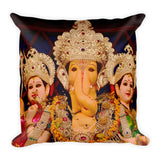 Premium Pillow - Ganesha Siddhi and Riddhi - For Luck Intelligence and Success - Hinduism