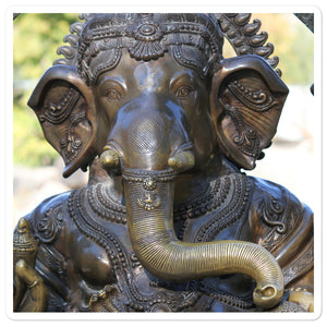 Bubble-free stickers - Lord Ganesha for success! - Hinduism