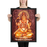 Framed poster - Lord Ganesh - Intelligence, Prosperity & Fortune - Hinduism - India