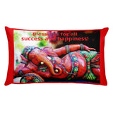 Premium Pillow - Ganesha blessings - Happiness and Success for All - Hinduism