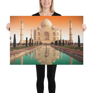 Canvas - Taj Mahal during sunset