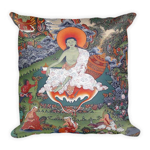 Premium Pillow - The Great Tibetan Maha Yogi Milarepa - Tibetan Buddhism
