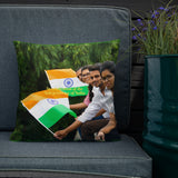 Premium Pillow -  In celebration of the Independence of India - Hinduism