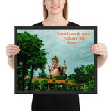 Framed poster - Lord Ganesh - Intelligence, Prosperity & Fortune - Hinduism - Thailand
