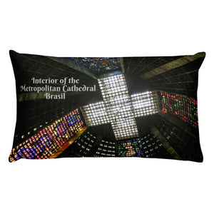 Premium Pillow - Interior/exterior of the Metropolitan Cathedral of Saint Sebastian - Rio de Janeiro - Brasil - South America - Catholicism