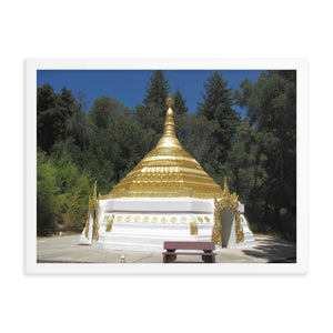 Framed Poster - Pagoda - TKAM Boulder Creek - California - Theravada Buddhism