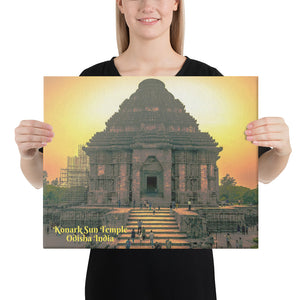 Canvas - Konark Sun Temple - Hindu sun  god Surya - Odisha - India - Hinduism